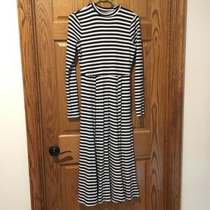Who What Wear long sleeve striped maxi dress.